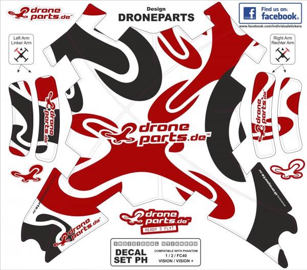 DJI Phantom Graphic Wrap Skins Droneparts
