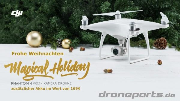 Xmas-Aktion: DJI Phantom 4 Pro Copter + gratis 5870mAh 4S Zusatzakku