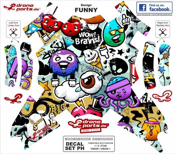DJI Phantom Graphic Wrap Skins Funny