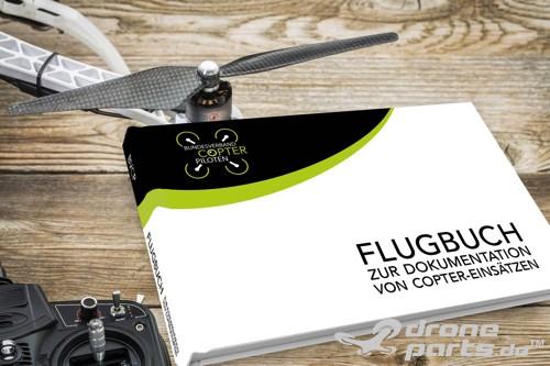 Flugbuch zur Dokumentation von Copter-Einsätzen | powered by droneparts.de