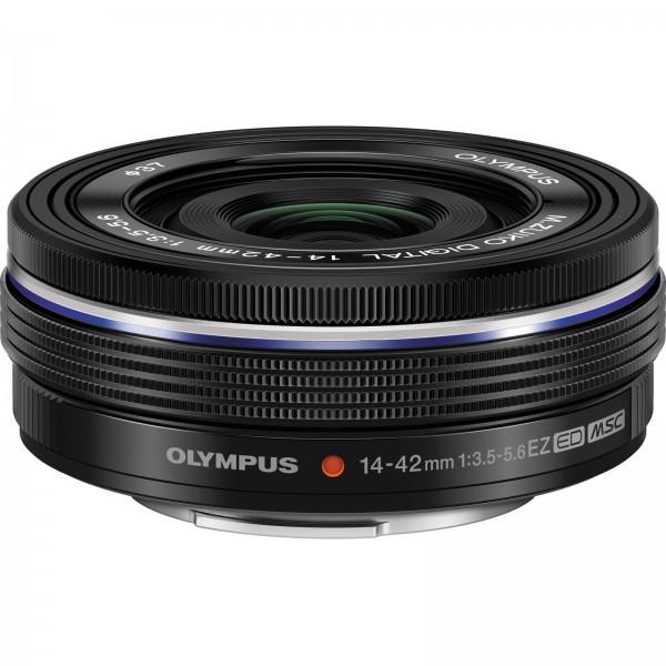 Olympus M.ZUIKO Digital 14-42mm 1:3.5-5.6 EZ Objektiv (elektronik zoom) schwarz