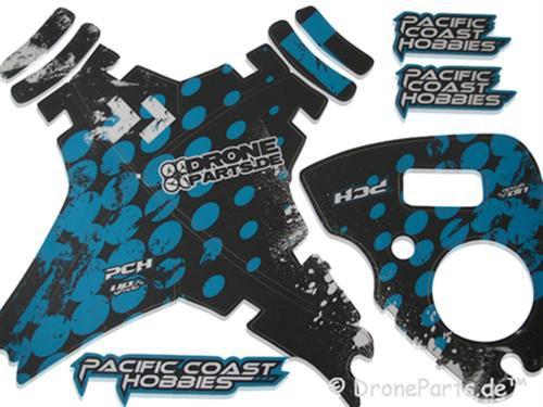 DroneParts DJI Phantom Graphic Wrap Skins Blau / blue