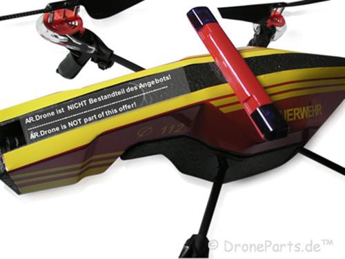 AR Drone 2 0 German FIRE FIGHTER MOD with light bar!