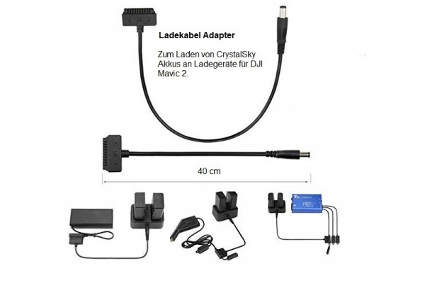 DJI Mavic 2 | Adapter Ladekabel für CrystalSky Akku