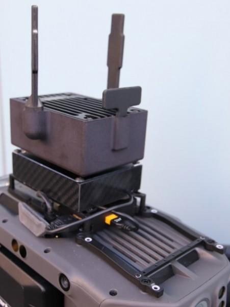 DJI Matrice 300 | Mesh-Knoten mit Videosender - COFDM BOS radio platform