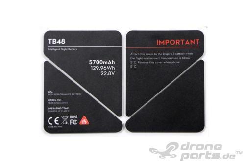 DJI Inspire 1 TB48 Batterieaufkleber - Ersatzteil 51
