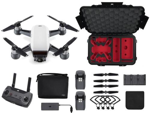 DJI Spark Combo - droneparts Bundle (Alpinaweiß)