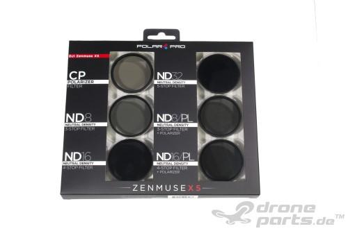 PolarPro DJI Zenmuse X3 Inspire 1 / OSMO -  Filter 6er-Pack