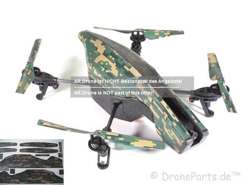 DroneParts AR Drone 2.0 UltraFlight Camouflage / Vinyl Verkleidung