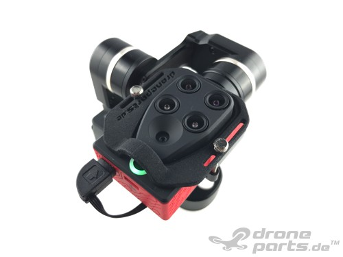 Parrot Sequoia 3-Achs Gimbal Kit mit Stromversorgung und Aufnahmen