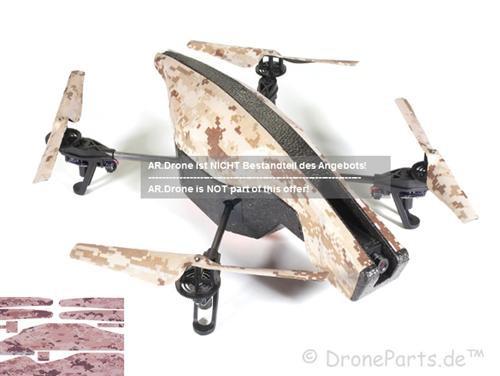 DroneParts AR Drone 2.0 UltraFlight Wüstentarnung / Vinyl Verkleidung