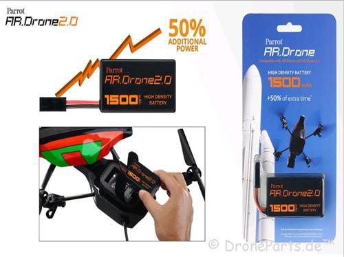 Parrot HD Batterie für AR Drone 2.0 (1500 mAh)